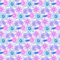 Motif floral sans soudure coloré de vecteur
