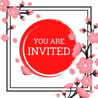Invitation japonaise vecteur