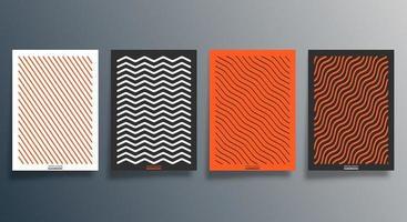 conception minimale géométrique pour flyer, affiche, couverture de brochure, arrière-plan, papier peint, typographie ou autres produits d'impression. vecteur