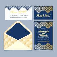 Invitation de style islamique de vecteur