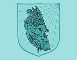 manteau d'ange vecteur