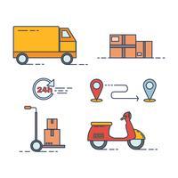 Vecteur d'icône de livraison