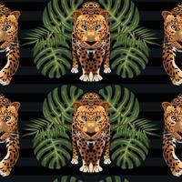 modèle de décoration magnifique art tropical sans soudure vecteur