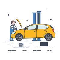Vecteur de mécanicien de voiture