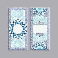 Carte de voeux ou Invitation Style islamique vecteur