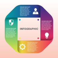 Vecteur de conception infographique et modèle d'icônes Marketing