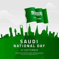 Vecteur de la journée nationale saoudienne