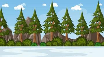 scène de paysage de parc naturel vide vecteur