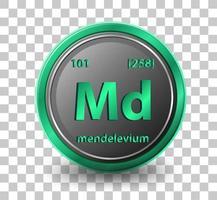 Élément chimique mendélévium vecteur