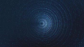 puce de circuit bleu sur fond de technologie, conception de concept numérique et de sécurité de haute technologie, espace libre pour le texte en place, illustration vectorielle. vecteur