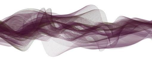 onde sonore numérique violet doux sur fond de technologie vecteur