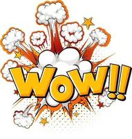 mot wow sur l'explosion d'une bombe isolée vecteur
