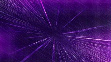 mouvement de vitesse hyperspace ultra violet sur fond de technologie future, chaîne et concept de mouvement en expansion, illustration vectorielle. vecteur