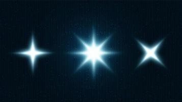 symbole de lumière numérique sur fond de technologie, conception de concept de haute technologie et de communication, espace libre pour le texte en place, illustration vectorielle. vecteur