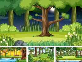scènes horizontales de nature différente vecteur