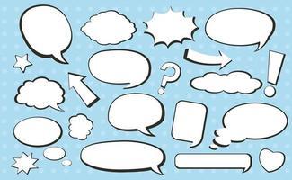 bulle de dialogue comique vecteur