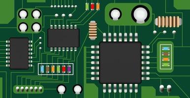 vecteur de carte de circuit électronique