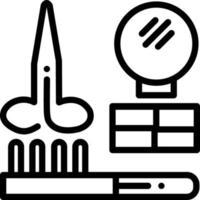 icône de ligne pour coiffeur vecteur