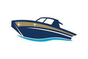illustration de conception de bateau vecteur