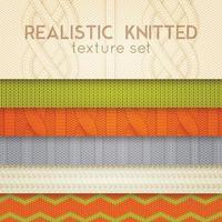 motifs tricotés réalistes couches horizontales illustration vectorielle vecteur