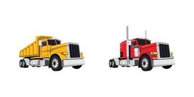 illustration de conception de camion classique vecteur