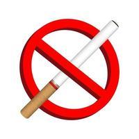 aucun signe d'icône de cigarette fumée vecteur
