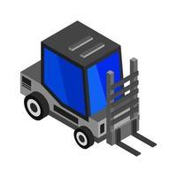 chariot élévateur isométrique sur fond vecteur