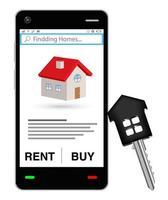 fiche de vente maison avec clé de la maison vecteur