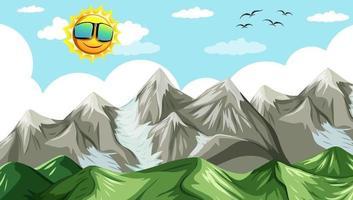 paysage nature paysage vue depuis le sommet d'une montagne vecteur