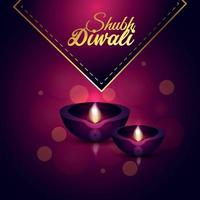 illustration créative de la carte de voeux joyeux diwali vecteur