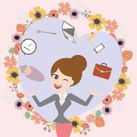 maman daffaires concilie travail et vie vecteur