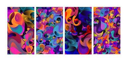 fond abstrait fluide coloré de vecteur pour le tissu
