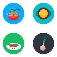 délicieux éléments de repas vecteur