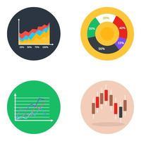 statistiques commerciales et graphiques vecteur