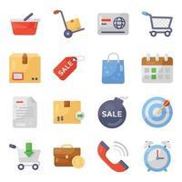 shopping et livraison vecteur