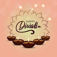 conception de diwali heureux vecteur