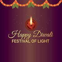 joyeux festival indien de diwali, joyeux diwali le festival de la lumière vecteur