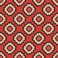 motif géométrique abstrait. origine ethnique orientale florale. ornement arabe. motifs ornementaux des peintures d'anciens modèles de tissus indiens. vecteur