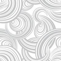 motif sans soudure géométrique abstrait. fond de bulle. cercles. vague rayée boucles texture de mouvement de flux chaotique. papier peint ornemental de forme ronde vecteur