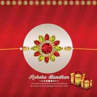 joyeux raksha bandhan invitation carte de voeux avec rakhi vecteur créatif