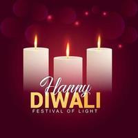 illustration vectorielle de joyeux festival de diwali en inde, festival de fond de célébration de la lumière vecteur