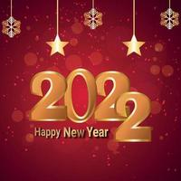 Carte de voeux de célébration de bonne année 2022 avec illustration vectorielle vecteur