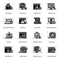 jeu d & # 39; icônes de technologie et de périphériques vecteur