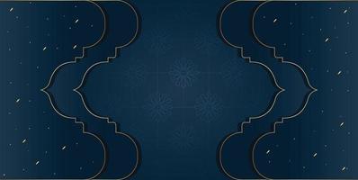 modèle modifiable de conception de fond islamique ou de bannière vecteur