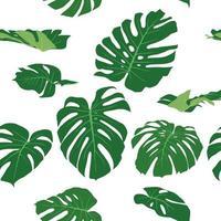 motif de feuilles de verdure sur le vecteur graphique illustration