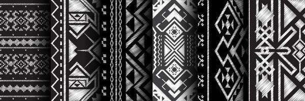 ensemble géométrique de motif vecteur