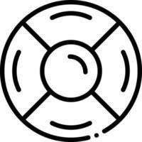 icône de ligne pour disque de secours vecteur