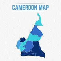Cameroun carte détaillée avec les villes vecteur