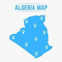 Algérie carte simple avec des icônes de la carte vecteur