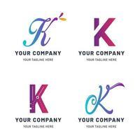 collection de modèles de logo k vecteur